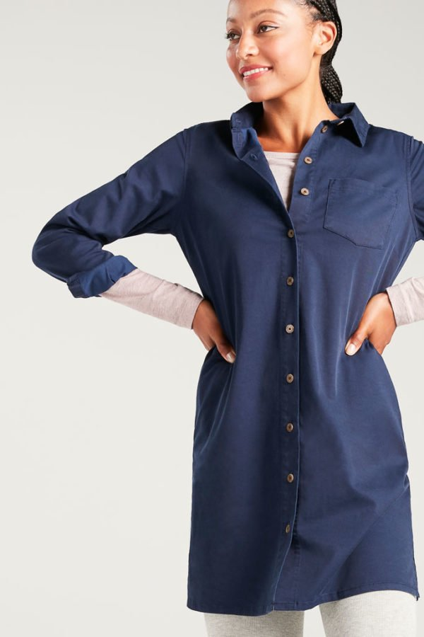 BAM1373-Womens-Tencel-Shirt-Dress-Navy-Bamboo-Clothing-3-600×900