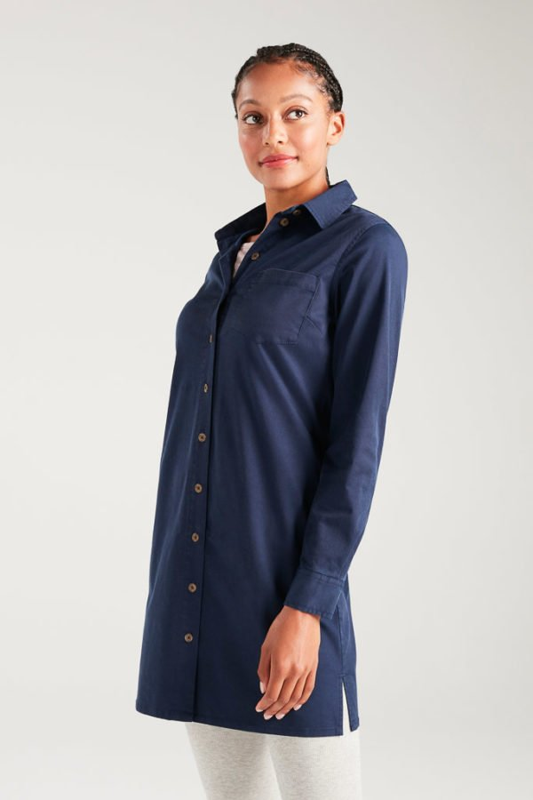 BAM1373-Womens-Tencel-Shirt-Dress-Navy-Bamboo-Clothing-4-600×900