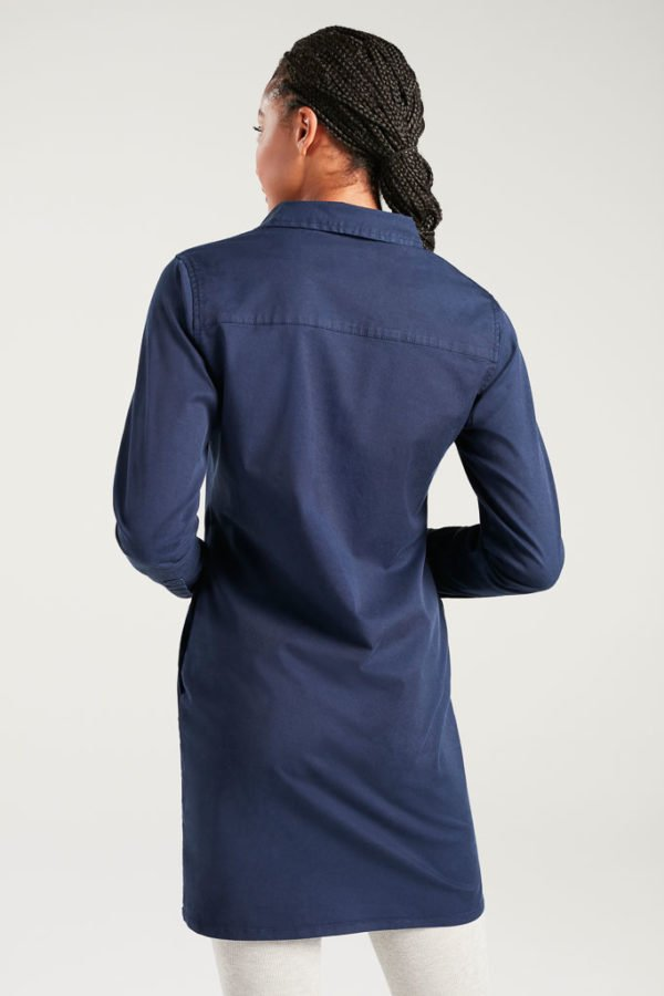 BAM1373-Womens-Tencel-Shirt-Dress-Navy-Bamboo-Clothing-6-600×900