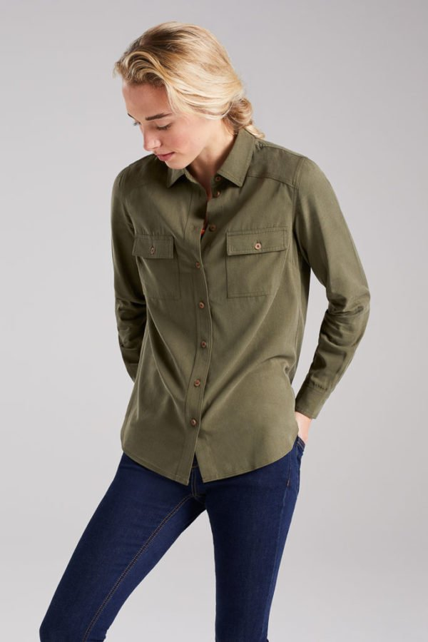 BAM1456-Womens-Tencel-Bamboo-Shirt-Laurel-Khaki-Bamboo-Clothing-2-600×900
