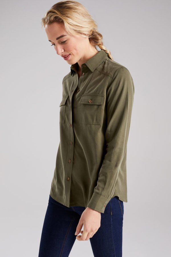 BAM1456-Womens-Tencel-Bamboo-Shirt-Laurel-Khaki-Bamboo-Clothing-4-600×900