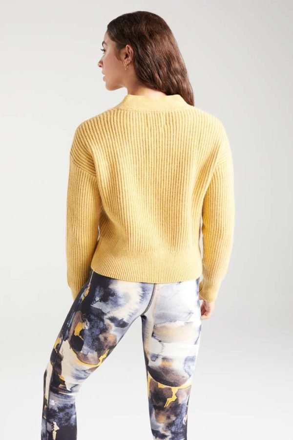BAM1359-Womens-Cropped-Cardi-Yellow-Harvest-Marl-Bamboo-Clothing-6-600×900