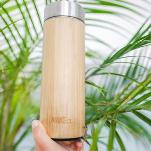 Quality Insulated Reusable Bamboo Bottle