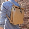 Quality Sustainable Brown WAKEbag Poly Paper Washable Backpack