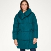 OFFER THOUGHT PHEBE PUFFA RECYCLED MATERIALS LONG COAT KINGFISHER