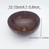 12-15Cm Natural Coconut Bowl Sustainable Living For Kitchen Zero Waste Store Natural Material Free Shipping