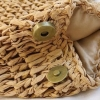 Casual Large Woven Straw Handbag Sustainable Material Beach Women Eco Friendly 2021